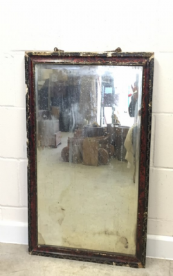 Colonial Gesso Work Mirror with Vintage Mirror Glass